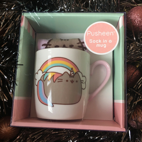 Pusheen Unicorn Sock & Mug Set