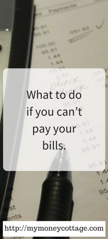 What to do if you can't pay your bills.