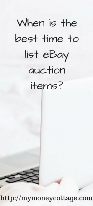 When is the best time to list eBay auction items_