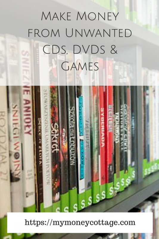 Make Money from Unwanted CDs, DVDs & Games