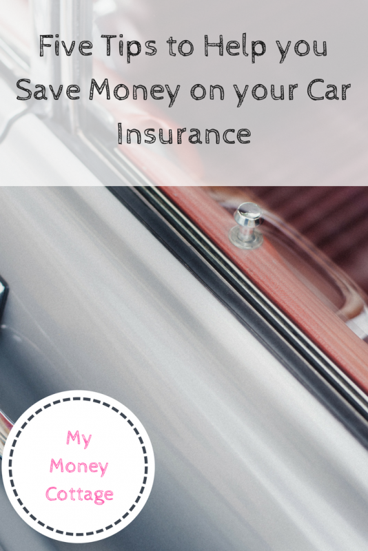 Five Tips to Help you Save Money on your Car Insurance