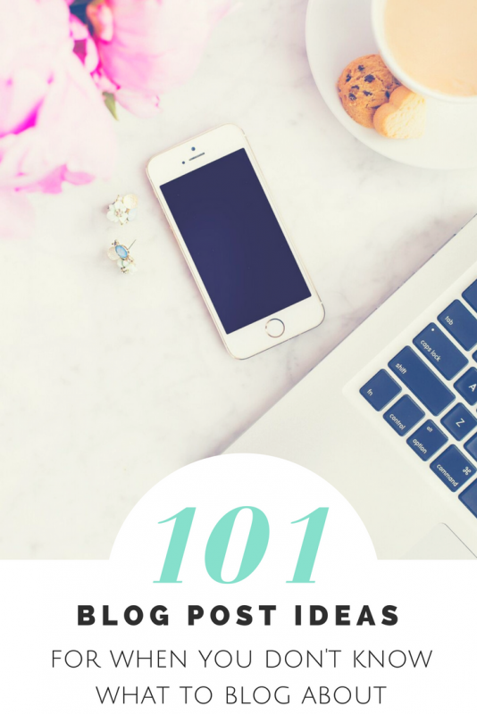 101 blog post ideas for when you don't know what to blog about