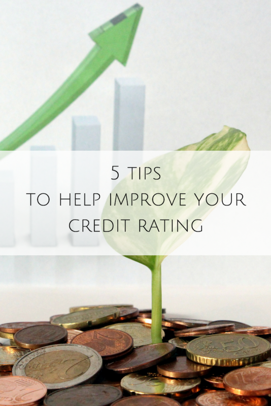 5 tips to help improve your credit rating