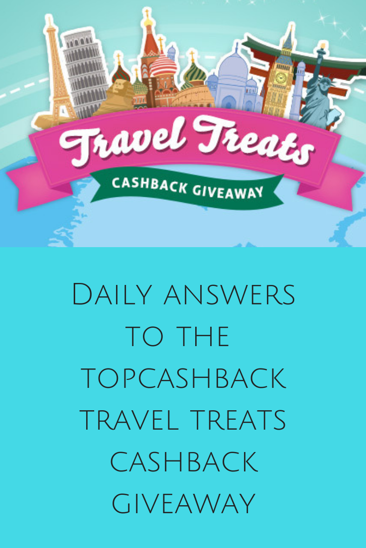 TopCashBack Travel Treats Cashback Giveaway