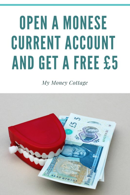 Open a Monese Current Account and get a free £5